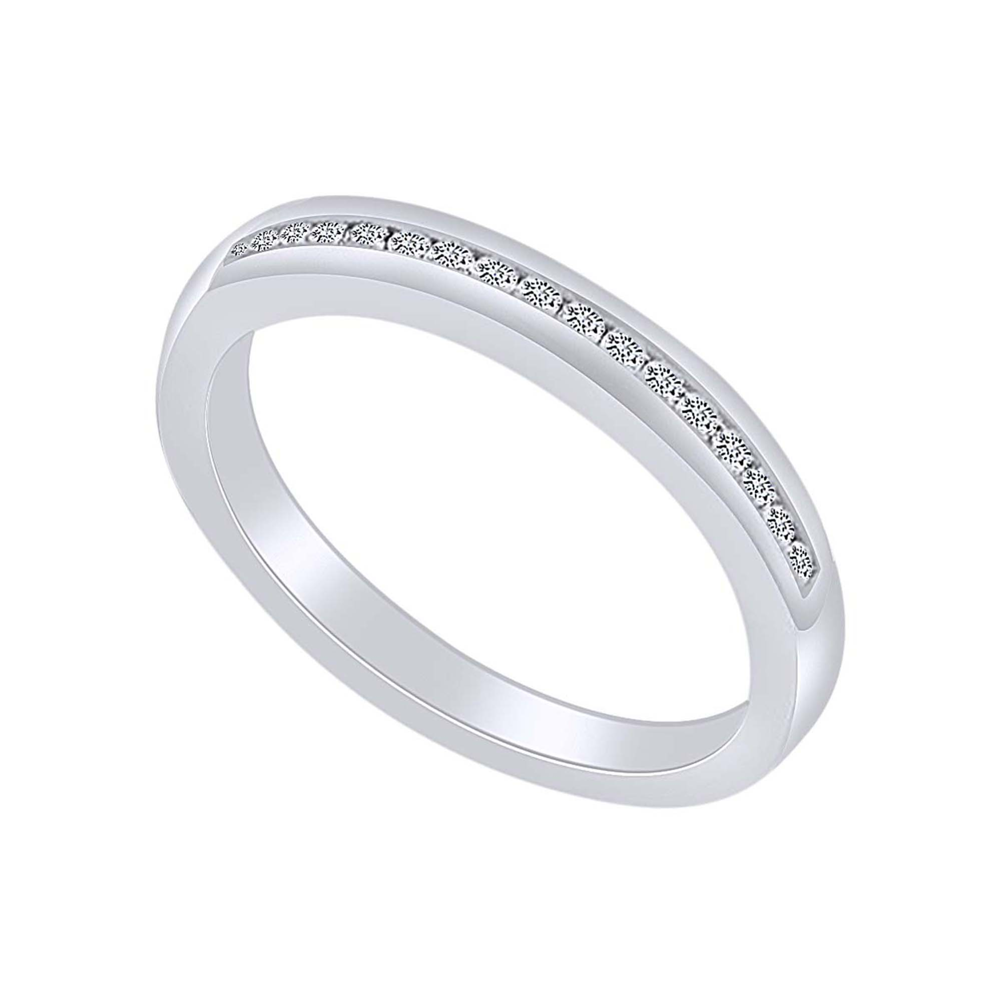 Jewel Zone Us 0 25 Carat Round Shape White Natural Diamond Simple Engagement Ring 14k Solid White Gold Ring Size 11 Walmart Com Walmart Com