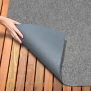 Indoor/Outdoor Carpet with Rubber Marine Backing - Gray 6\' x 10 ...