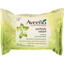 Facial Cleansing Wipes: Aveeno Positively Radiant Makeup Removing Wipes