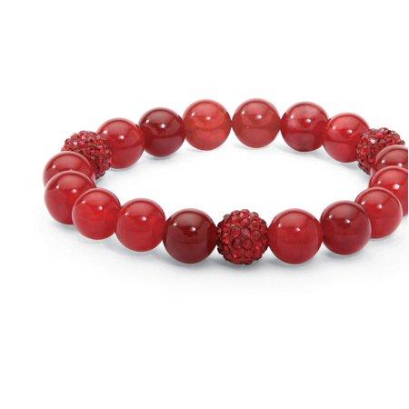 Genuine Agate and Birthstone Beaded Stretch Bracelet 8