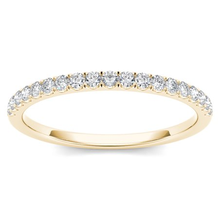 Imperial 1/4Ct TDW Diamond 10K Yellow Gold Wedding Band