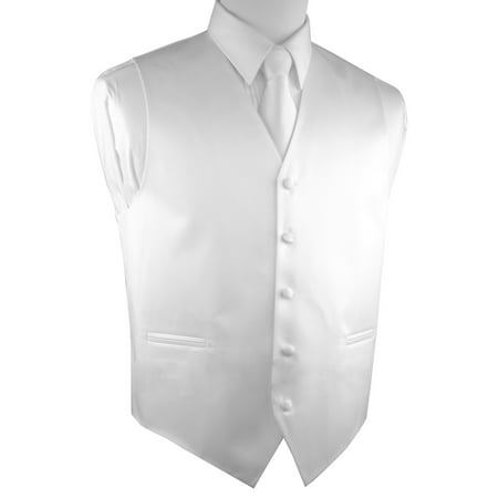 Italian Design, Men's Tuxedo Vest, Tie & Hankie Set -