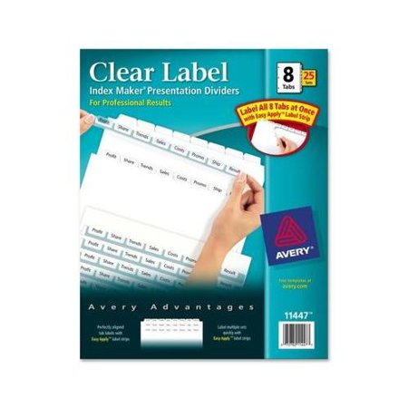 Avery Index Maker Translucent Dividers (Avery Index Maker Clear Label Divider AVE11447 )
