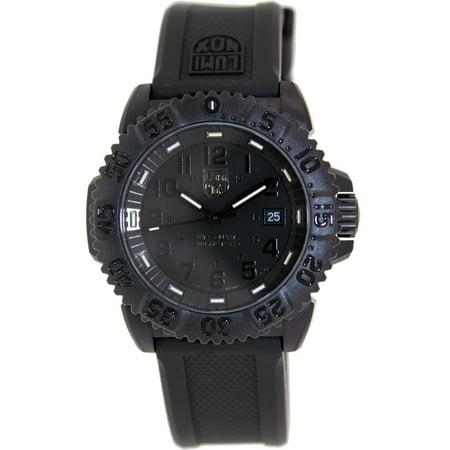 Luminox Men's SEA 3051.BO Black Silicone Swiss Quartz Sport (Luminox Black Wrist Watch)