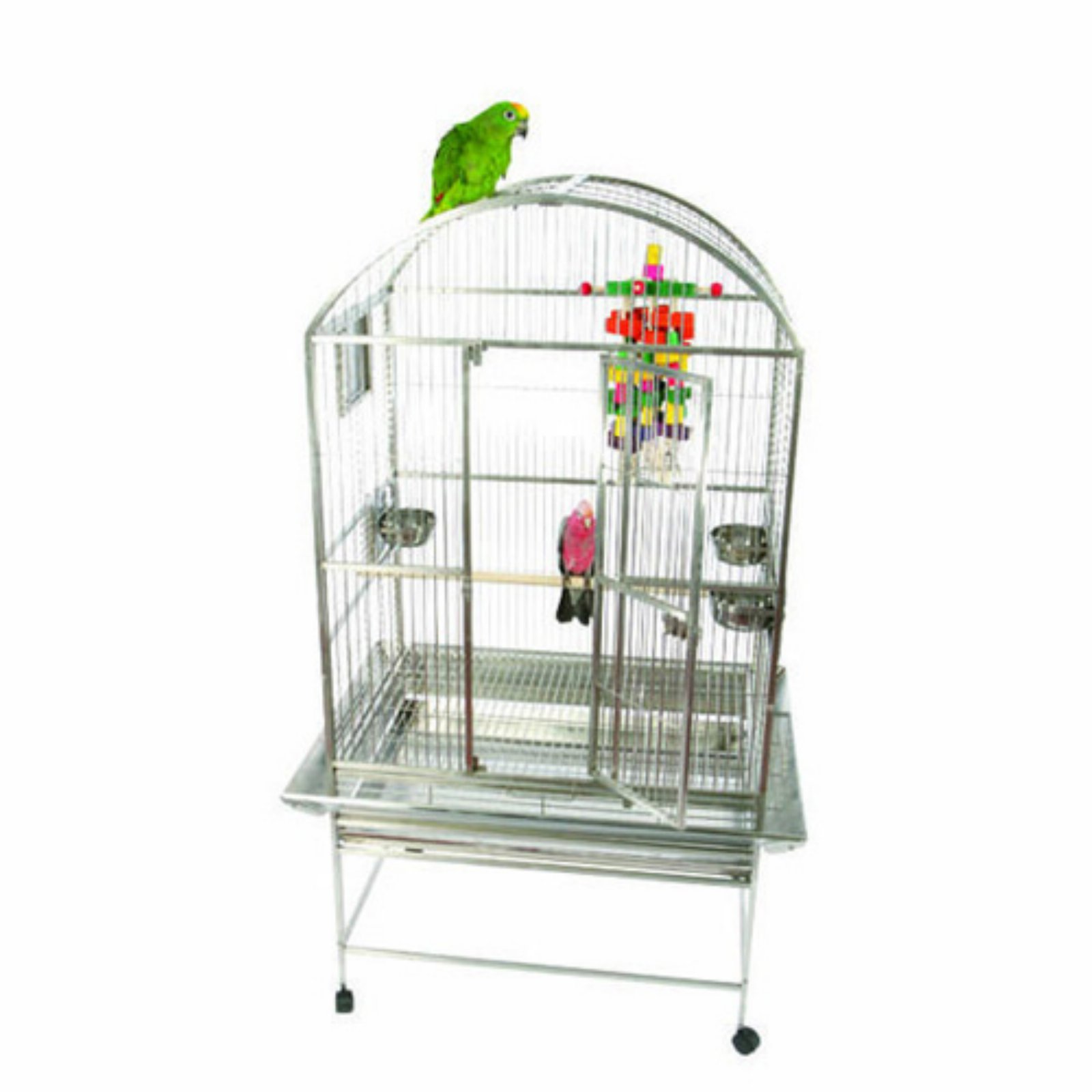 A and E Cage Co. Premium Bayard Stainless Steel Dometop Bird Cage