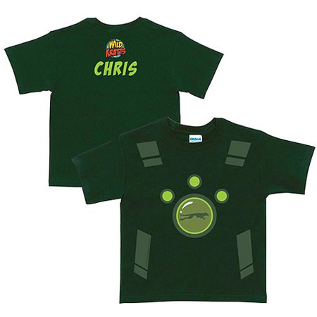 Personalized Wild Kratts Creature Power Suit Boys' Green T-Shirt