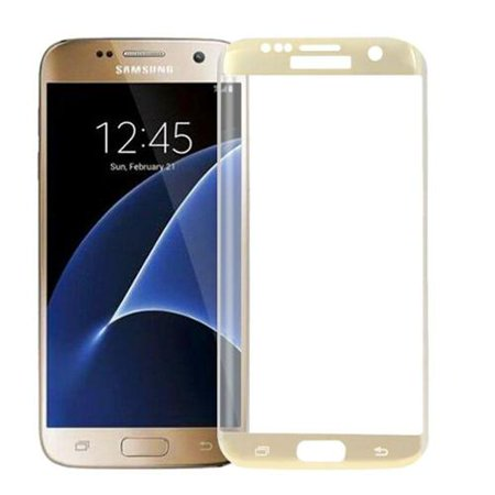 2cfe7acb4ba Insten Clear Tempered Glass Screen Protector Cover For Samsung Galaxy S7  Edge - Gold - Walmart.com