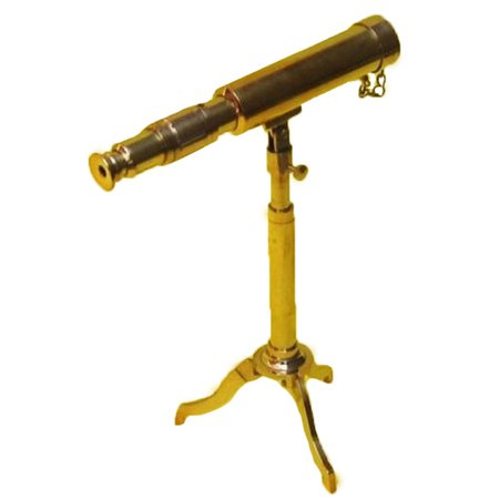 EC World Imports Reproduction Miniature Antique Replica Decorative Telescope