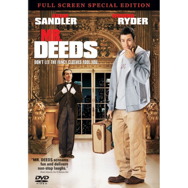 Mr Deeds Dvd 2002 Full Screen Special Edition New Walmart Com Walmart Com