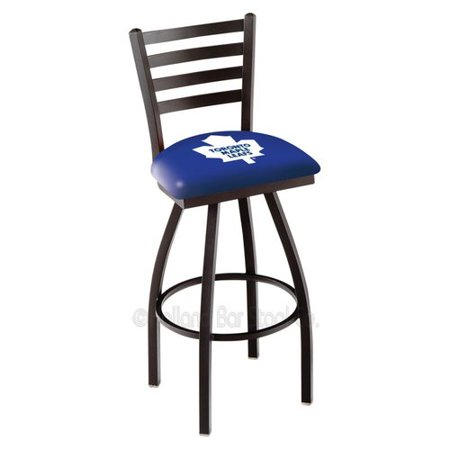 L014 Toronto Maple Leafs Swivel Bar Stool with Ladder Style Back by