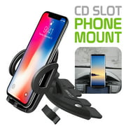 Cellet CD Slot Phone Holder Mount, Stable and Durable CD Slot Mount Holder for iPhone XR Xs Xs Max X 8 8 Plus 7 7 6 6s Plus 6s 6 SE 5s 5 5c Samsung Galaxy & Note 10 S10+