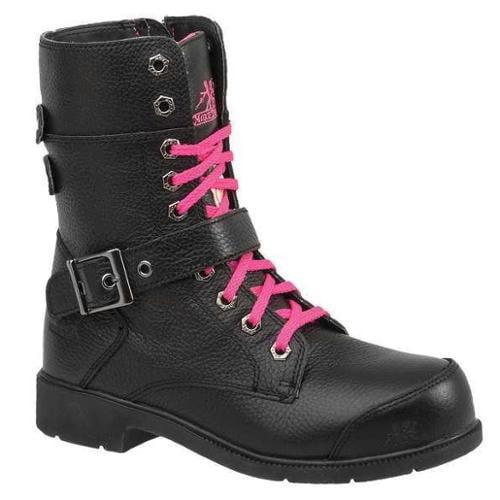 MOXIE TRADES 50131 Work Boots, 8 In., Stl, Wmn, Blk, 10, PR