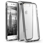 BasAcc Crystal Clear Ultra Slim Hard Back Panel Case Cover with Anti-Shock Cushion Rubber TPU Bumper for iPhone 8 Plus / iPhone 7 Plus Clear Case
