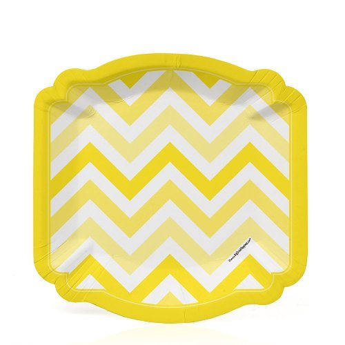 Chevron Yellow - Party Dessert Plates (8 count)