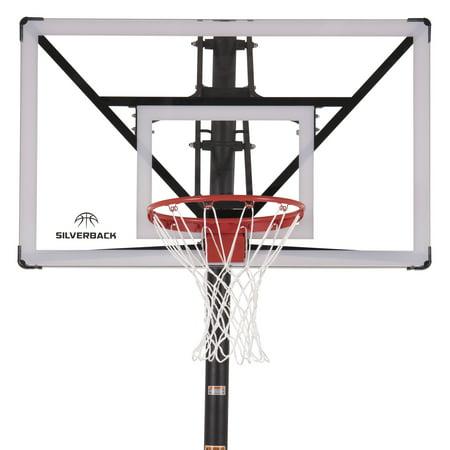 "Silverback NXT 54"" In-Ground Basketball Hoop with Adjustable-Height Backboard"