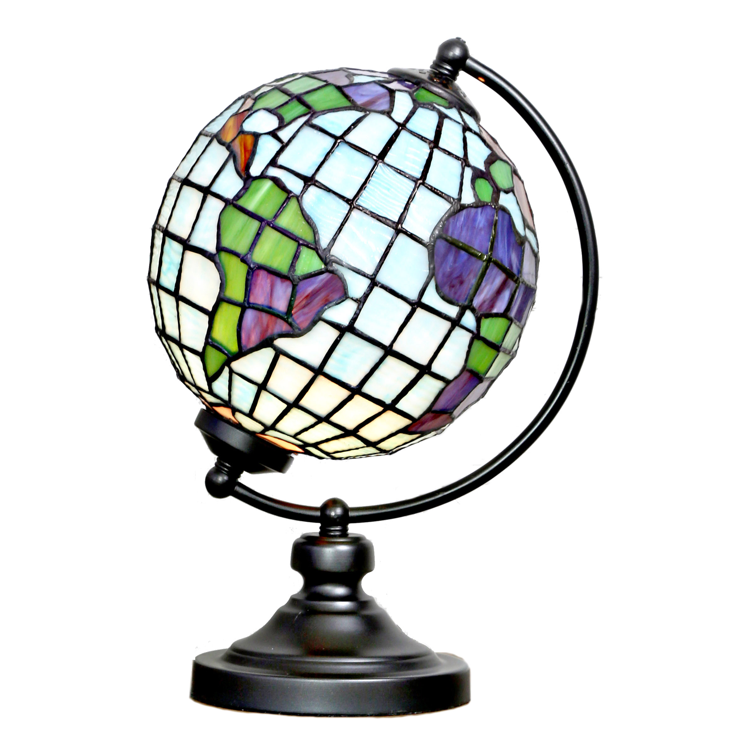 River Of Goods World Globe Stained Glass Table Lamp Walmart Com