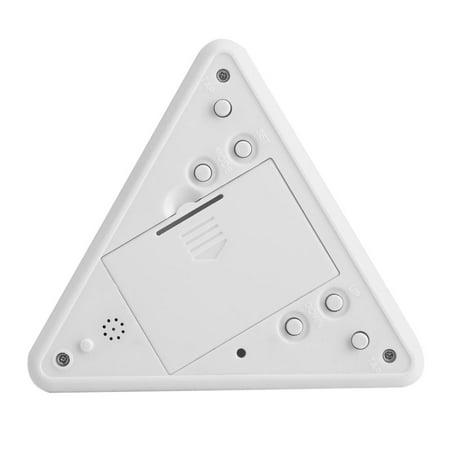Qiilu Alarm Clock, Table Clock,LED Color Changing Digital LCD Alarm Clock Thermometer Night Light Desktop Table Clocks - image 5 of 7