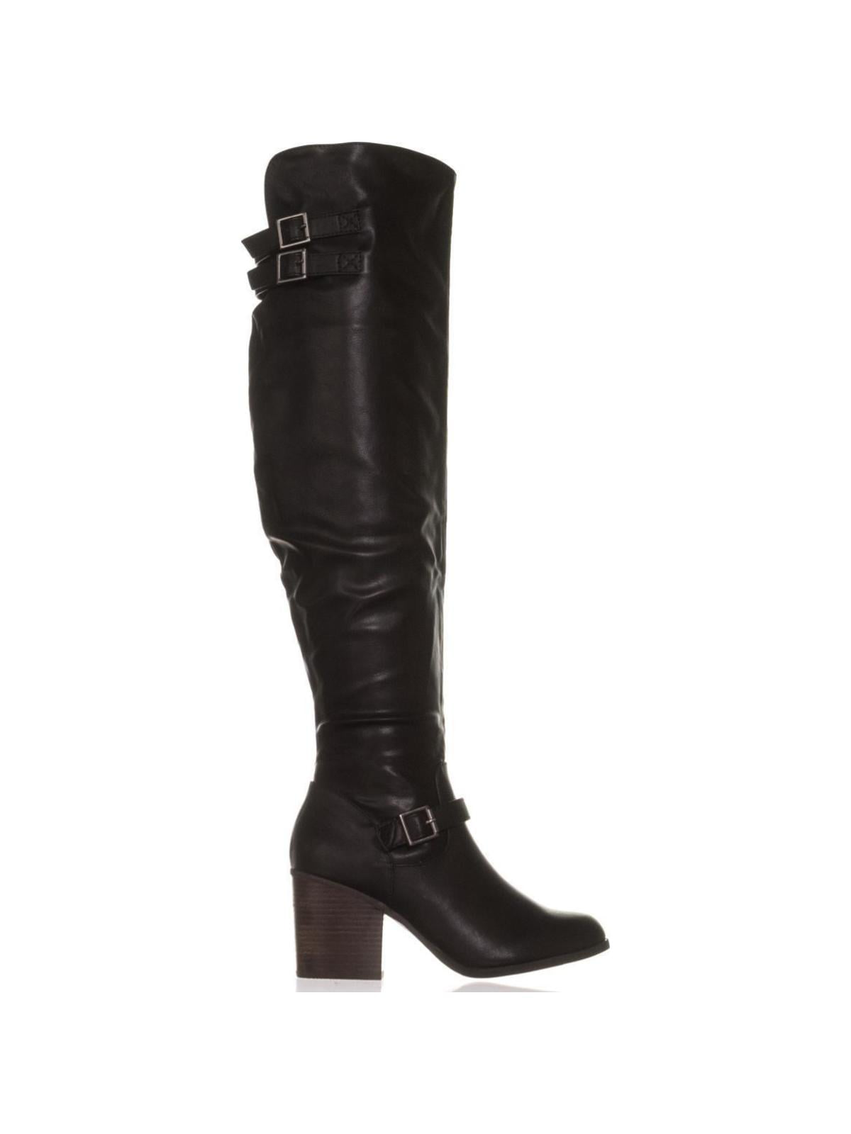 f65bbab526b61 Material Girl Womens Modiana Almond Toe Knee High Fashion Boots