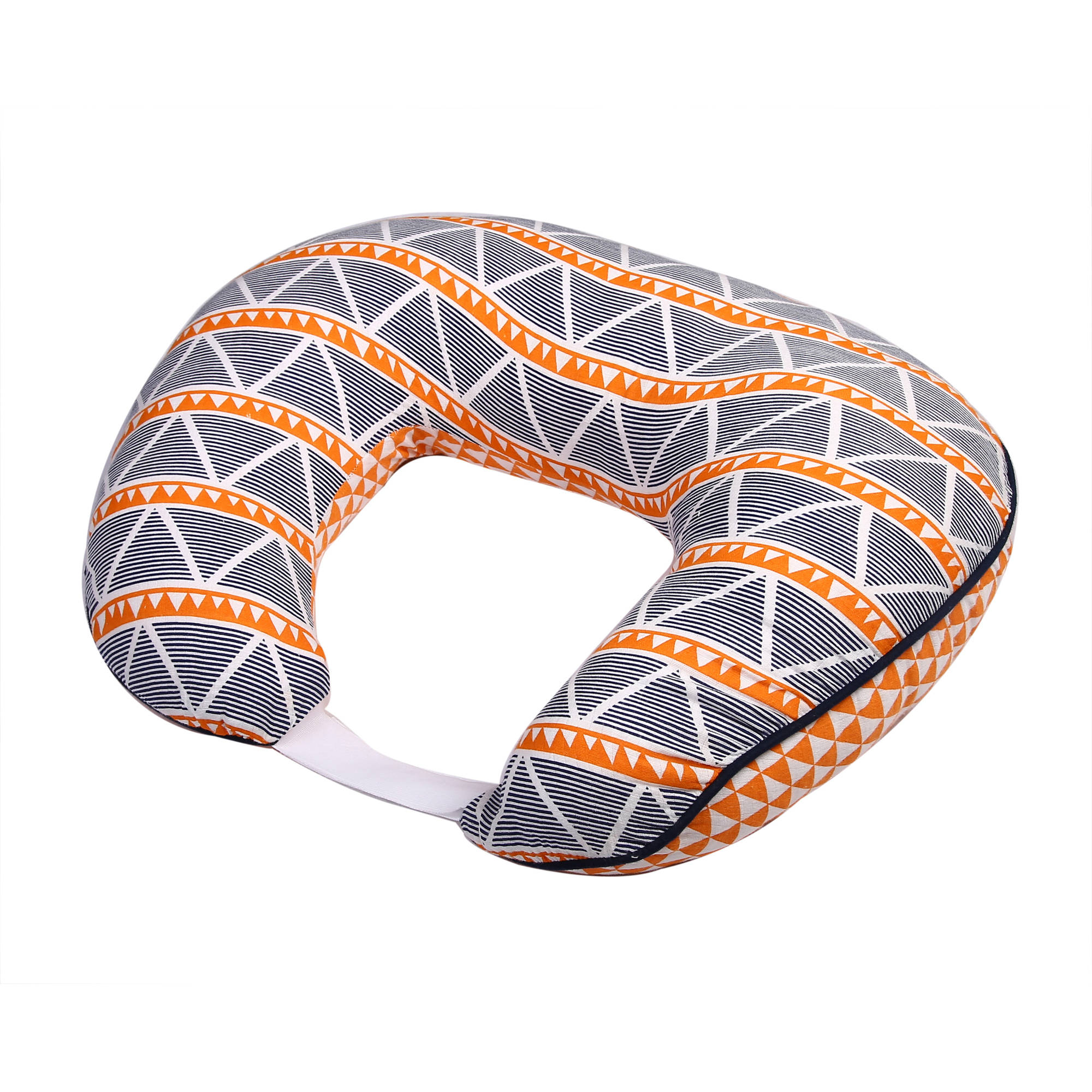 Bacati - Liam Aztec Orange/Navy Large Triangles Muslin Nursing Pillow Cover fits perfectly only Bacati - Hugster Nursing Pillow