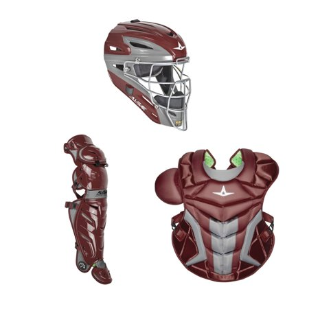 All Star Adult System7 Axis CKPRO1X Pro Catchers Gear Set Maroon All Star Catchers Gear