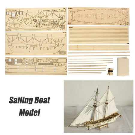 DIY Ship Assembly Model Kits Wooden Sailing Boat Scale Model Decoration Toys Gifts for Kids Adults Plastic Model Kit Assembly