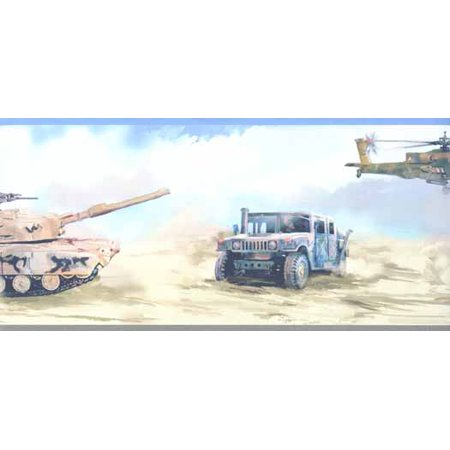 Army Tank Helicopter Jeep Wallpaper Border 5814625