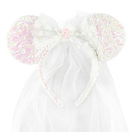 Disney Park Minnie Mouse Ears Wedding Veil NEW - Walmart.com d7620c640af