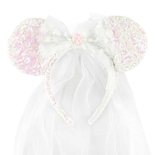 Disney Park Minnie Mouse Ears Wedding Veil NEW - Walmart.com 1fa26f0015b