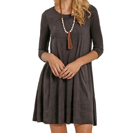 Rock and Roll Cowgirl Women Small Micro Suede A-Line Dress - Dress Up Like A Cowgirl