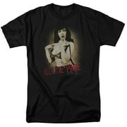 Bettie Page Distressed Tease Mens Short Sleeve Shirt