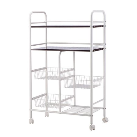 Ktaxon Rolling Kitchen Trolley Cart Island Wire Rack Basket Shelf Stand Storage US