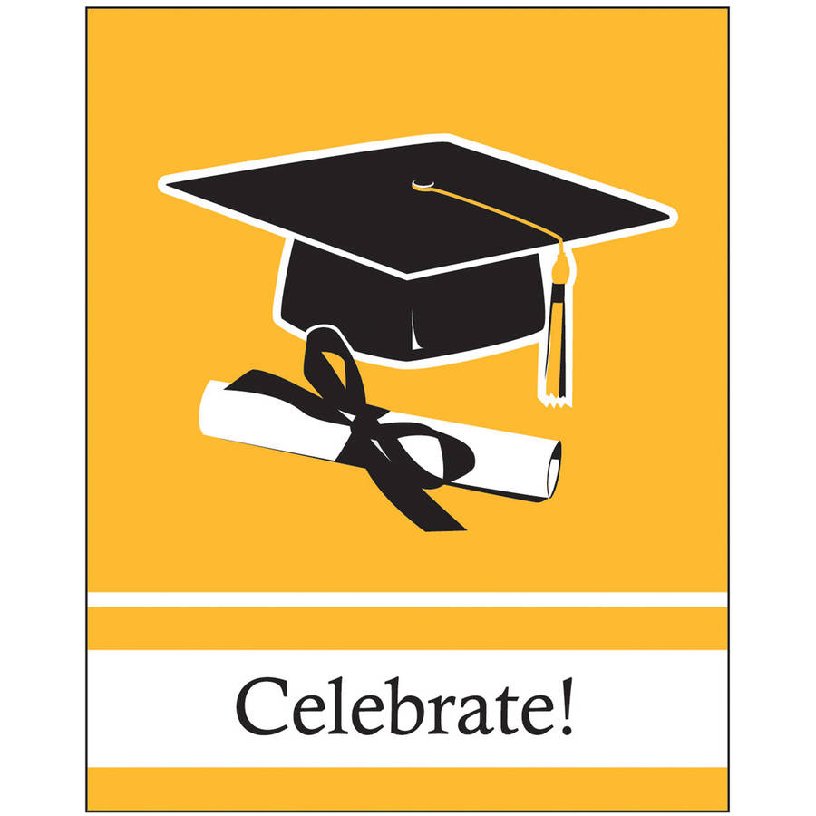 School Colors, School Bus Yellow Invitations, 25pk