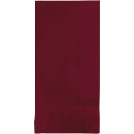 Touch of Color Dinner Napkins, 2-Ply, 1/8 Fold, Burgundy, 100 - 18th Birthday Napkins