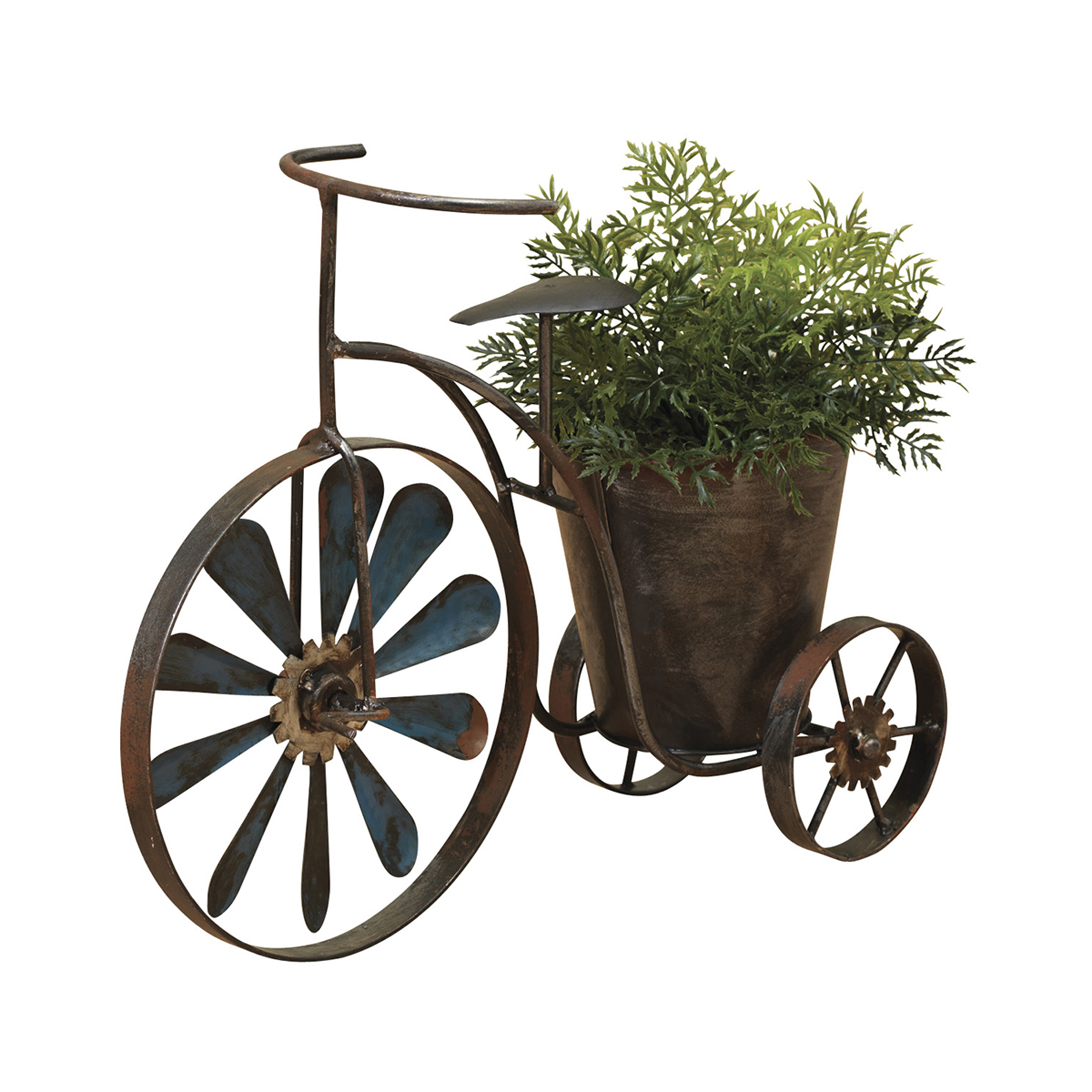 Gerson Assorted 14 6 Inch Long Metal Antique Tricycle Planters With Wind Spinner Spokes Set Of 2 Walmart Com Walmart Com