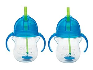 Munchkin Click Lock 7 Ounce Weighted Flexi-Straw Cup, 2 Pack, Pink by Munchkin