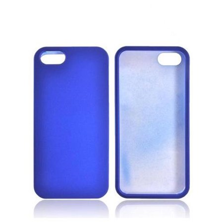 Rubberized Blue Snap - Made for Apple Iphone 5 [Blue]  Rubberized Hard Plastic Snap On Shell Case Cover by Redshield
