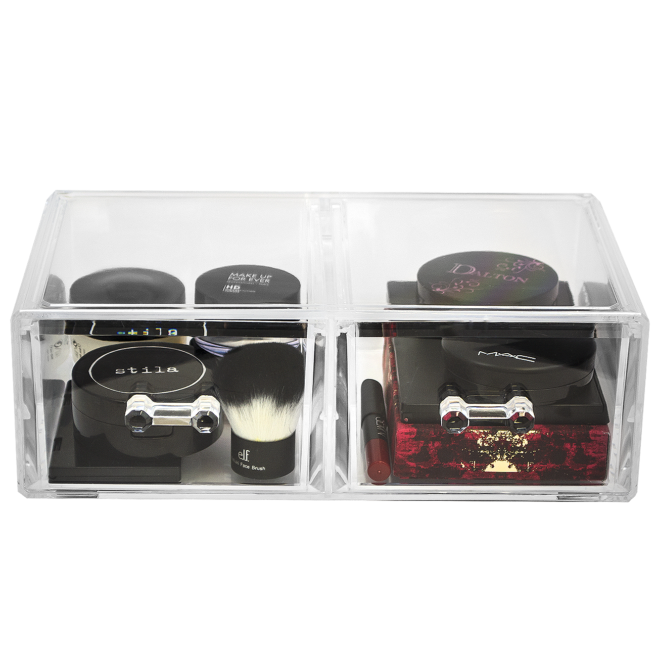 Sorbus Acrylic Cosmetics Makeup and Jewelry Storage Case Display Sets - Interlocking Drawers to Create Your Own Specially Designed Makeup Counter - Each Drawer Is Stackable, Detachable, and Interchan