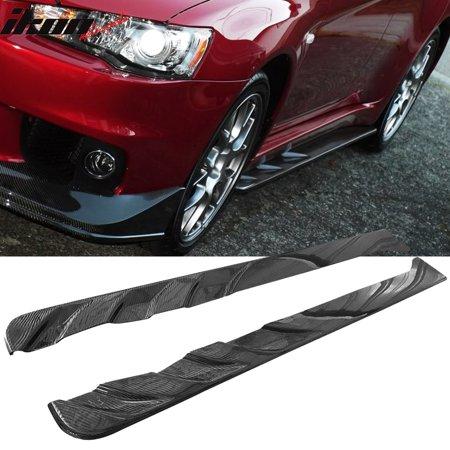 Fits 08-16 Mitsubishi Lancer EVO X Jun Style Side Skirts - Carbon Fiber (Jun Carbon)