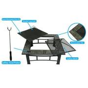 Outdoor Metal Firepit Table Backyard Patio Garden Bon fire heater Pit