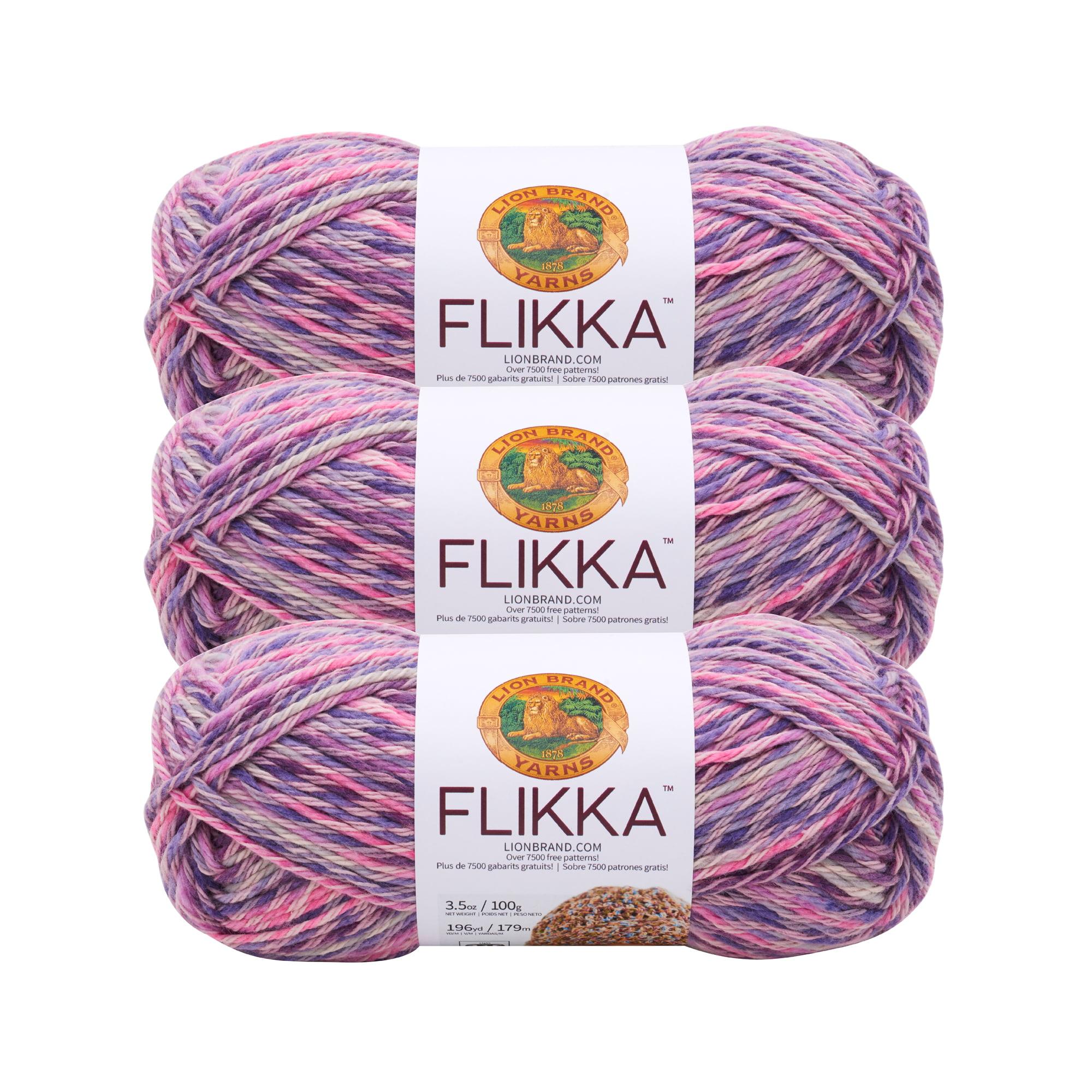 Lion Brand Yarn 431-709B FLIKKA WADING POOL 3 Pack Cotton Yarn