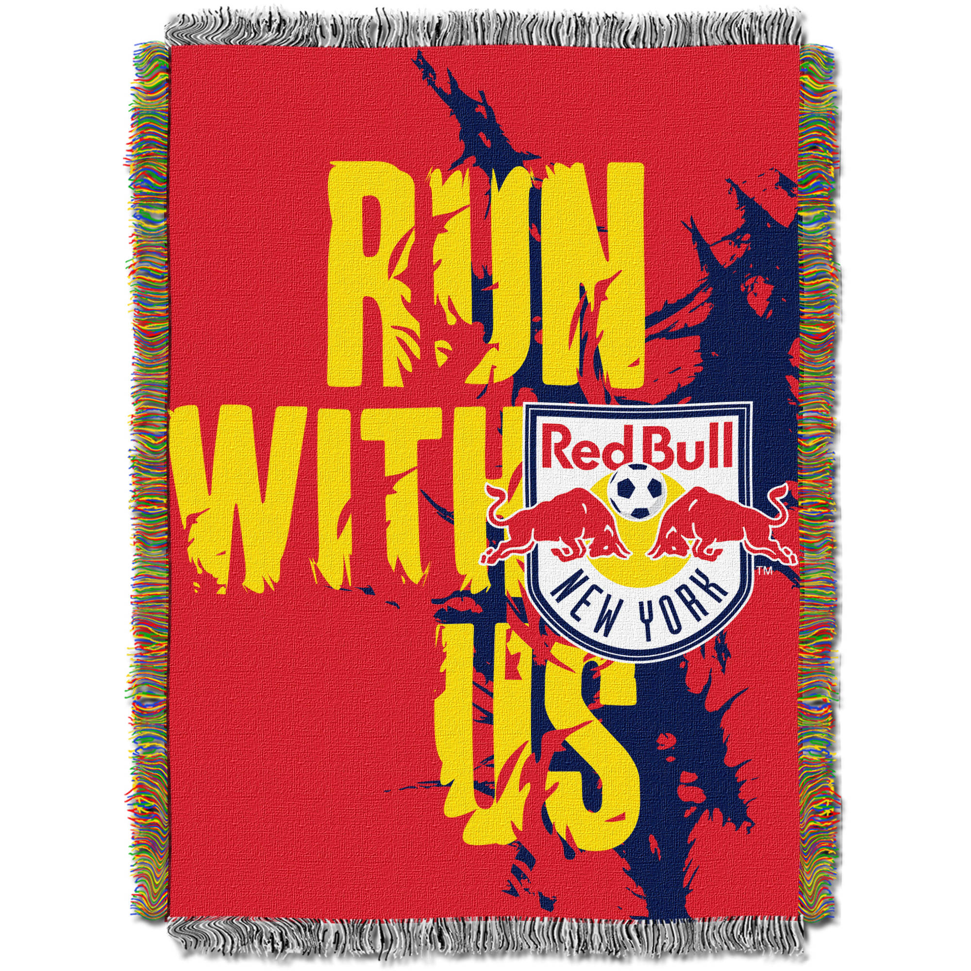 "MLS New York Red Bulls Handmade 48"" x 60"" Woven Tapestry Throw"