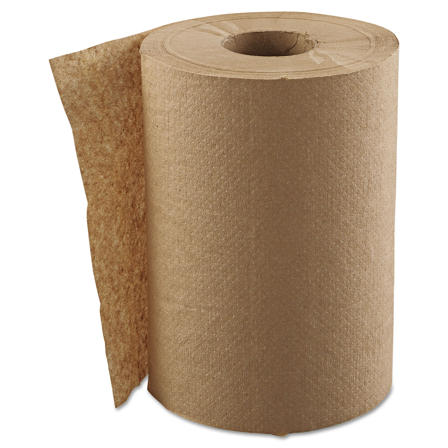 """Hardwound Roll Towels, 1-Ply, Natural, 8"""" x 350 ft, 12 Rolls/Carton"""
