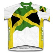 Jamaica Flag Short Sleeve Cycling Jersey  for Men - Size XS