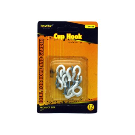 pack 24 12 Pack White Cup Hooks by bulk buys