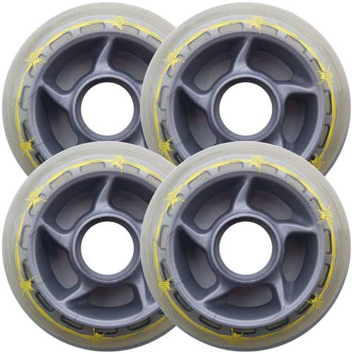 BARBED WIRE 80mm 79a Roller Inline Skate Wheels 4-Pack