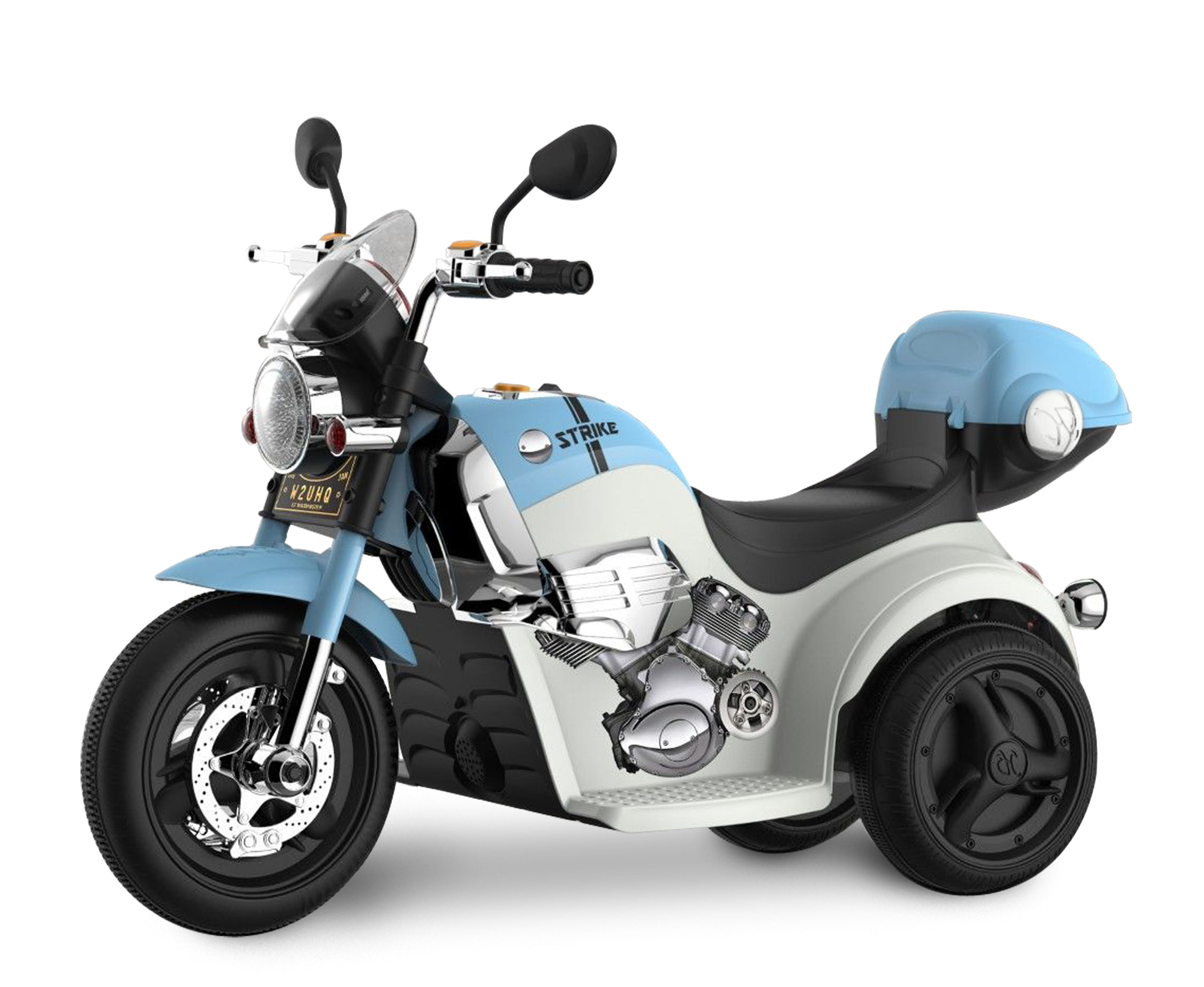 Kid Motorz Motorcycle in Blue (6V) by National Products Limited
