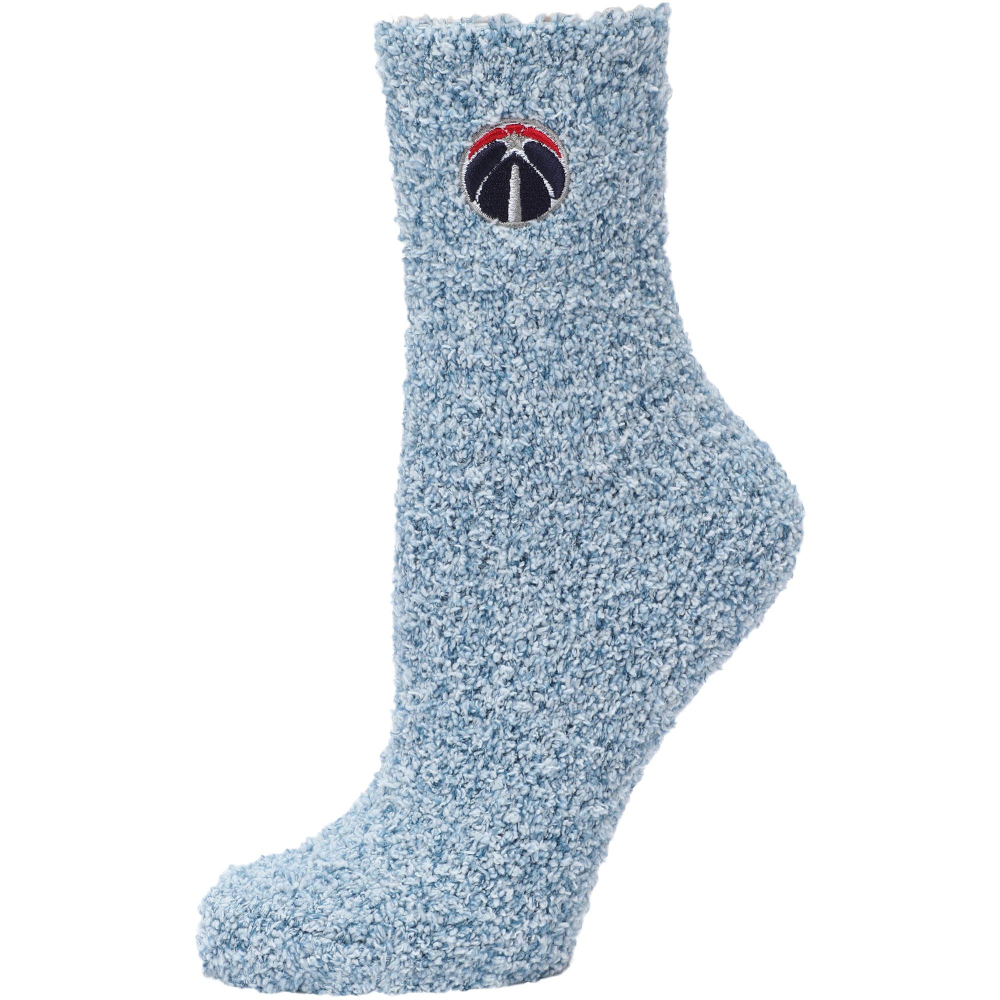 Washington Wizards Women's Fuzzy Block Tri-Blend Socks - Navy - M