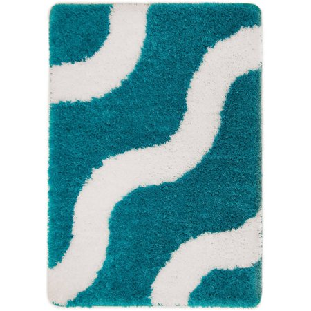 Mainstays True Color Memory Foam Teal Sachet Bath Rug, 1 Each ()