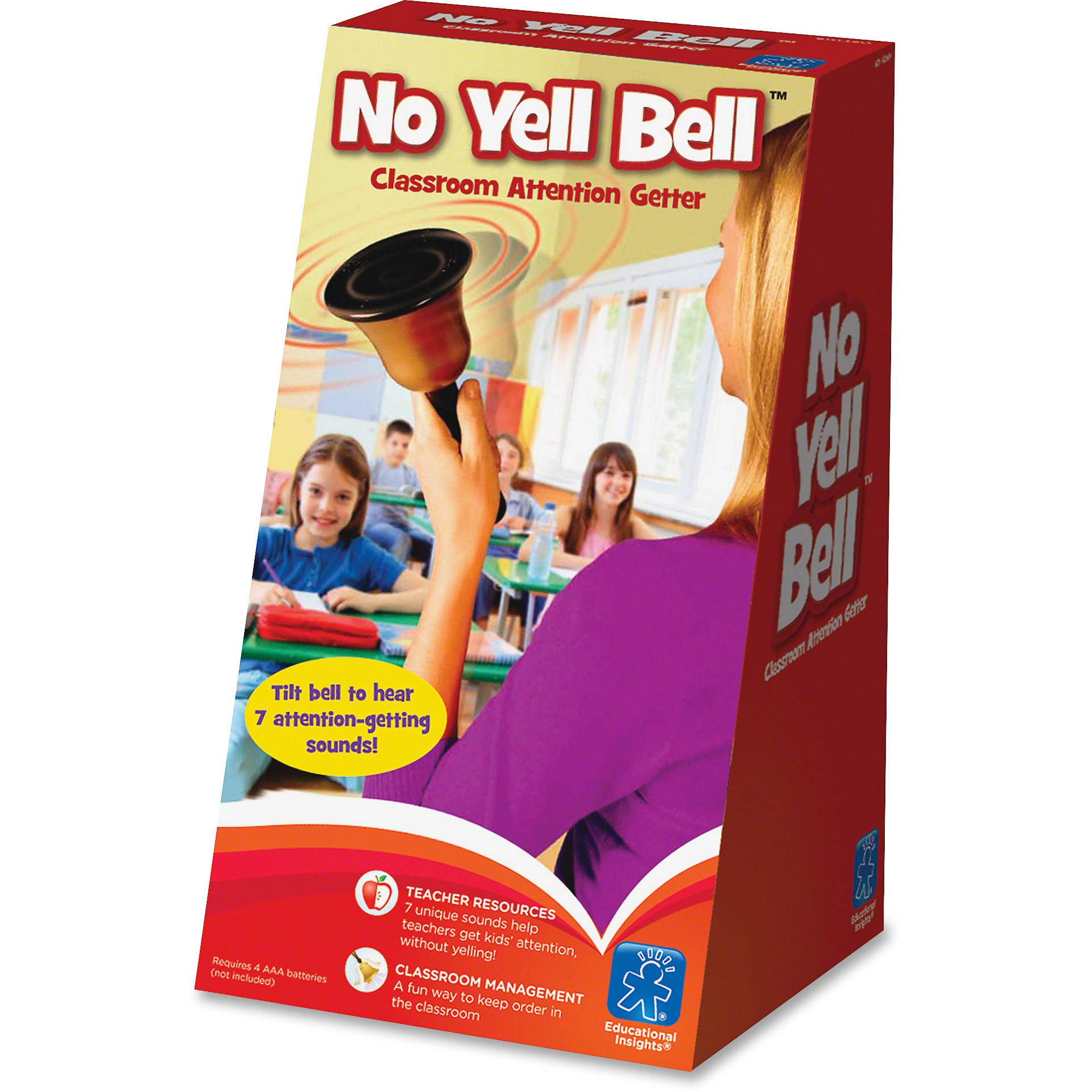 Educational Insights, EII1250, No Yell Bell, 1 Each, Assorted