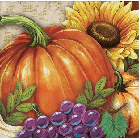 Harvest Thanksgiving Beverage Napkins, 48 count](Thanksgiving Party Supplies)